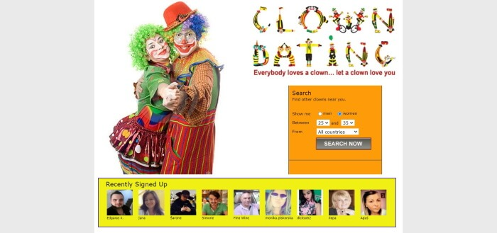 clown dating review