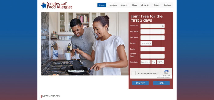 singles with food allergies review
